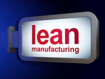 Manufacuring concept: Lean Manufacturing on billboard background. Manufacuring concept: Lean Manufacturing on advertising billboard background, 3D rendering Stock Image