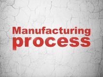 Manufacuring concept: Manufacturing Process on wall background Stock Photography