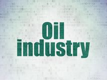 Manufacuring concept: Oil Industry on Digital Data Paper background Royalty Free Stock Photo