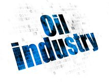 Manufacuring concept: Oil Industry on Digital background Stock Photography