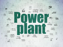 Manufacuring concept: Power Plant on Digital Data Paper background Stock Photography