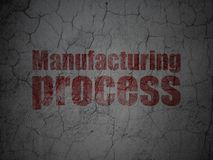Manufacuring concept: Manufacturing Process on grunge wall background Royalty Free Stock Photography