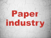 Manufacuring concept: Paper Industry on wall background. Manufacuring concept: Red Paper Industry on textured concrete wall background vector illustration