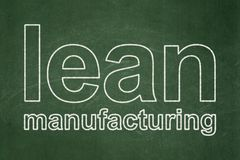Manufacuring concept: Lean Manufacturing on chalkboard background Stock Images