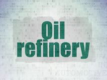Manufacuring-Konzept: Erdölraffinerie auf Digital-Daten-Papierhintergrund Lizenzfreie Stockbilder