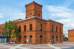 Manufaktura的大厦 Manufaktura是艺术中心和商城在罗兹 免版税库存照片