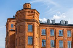 Manufaktura的大厦 Manufaktura是艺术中心和商城在罗兹 库存照片