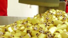 Manufaktura karmel cukierki, tnący karmel cukierki zbiory wideo