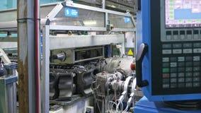 Manufaktura plastikowe wodne drymby Elektroniczny centrum kontroli dla procesu produkcji Fabrykować tubki fotografia royalty free