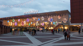 Manufaktura shopping mall during Christmas time Stock Photography