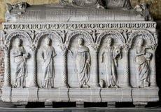 Manufatto della tomba in campo Santo (Pisa, campo dei miracoli) Fotografia Stock