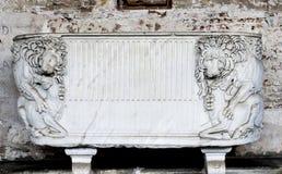 Manufatto della tomba - leoni (campo Santo - Pisa) Immagini Stock