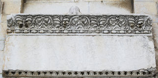 Manufatto di pietra della compressa da Pisa Fotografia Stock