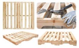 Manufatura de plataformas de madeira Foto de Stock Royalty Free