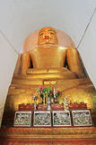 Manuha-Tempel-Buddha-Bild, Bagan Archaeological Zone, Myanmar Stockfoto