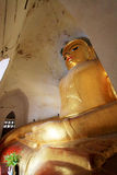 Manuha-Tempel-Buddha-Bild, Bagan Archaeological Zone, Myanmar Lizenzfreie Stockbilder