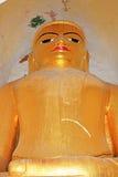Manuha-Tempel-Buddha-Bild, Bagan Archaeological Zone, Myanmar Stockfotografie