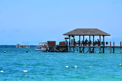 Manuka wyspy dok w Sabah, Malezja Zdjęcie Royalty Free