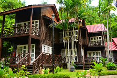 Manukan Island Cottages in Sabah, Malaysia Stock Images