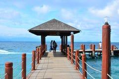 Manukan Island Pathway in Sabah, Malaysia Stock Photo