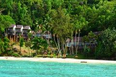 Manukan wyspa w Sabah, Malezja Obrazy Royalty Free