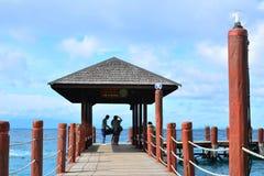 Manukan wyspy droga przemian w Sabah, Malezja Zdjęcia Royalty Free