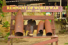 Manukan wyspy szczątek wojna światowa w Sabah, Malezja Zdjęcie Stock