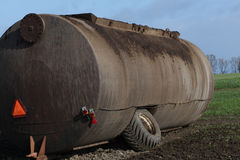 Manure container tank. Stock Photo