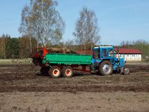 Manure spreading 3 Royalty Free Stock Photos