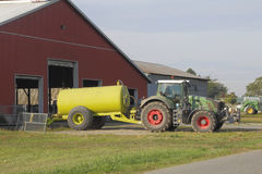 Manure Tank and Tractor Stock Photos