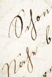 Manuscript Royalty Free Stock Image