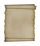 Manuscript, aged scroll with clipping patch Royalty Free Stock Photos