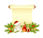 Manuscript christmas Royalty Free Stock Images