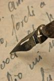 Manuscript. Handwriting, old manuscript and accessories Stock Photos
