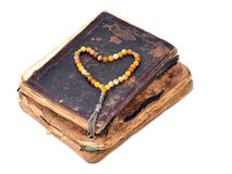 Manuscript Holy Quran and Muslim prayer beads Stock Photography