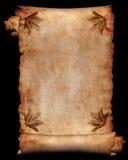 Manuscript met bloemen 4 Royalty-vrije Stock Foto's