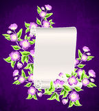 Manuscript with night flowers Royalty Free Stock Images