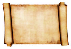 Manuscript roll Stock Photography