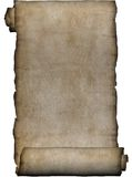 Manuscript, rough roll of parchment Royalty Free Stock Photo