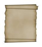 Manuscript, verouderde rol met het knippen van flard Royalty-vrije Stock Foto's