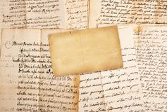 Manuscripten Stock Afbeelding
