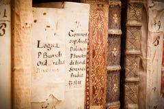 Manuscripten in Latijn royalty-vrije stock foto's