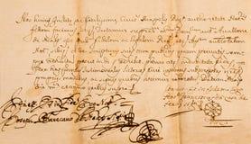 Manuscript Royalty-vrije Stock Foto