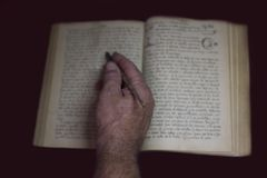 manuscripts of an artist stock image