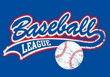 Manuscrit affligé de base-ball avec un base-ball illustration de vecteur