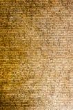 Manuscrit bouddhiste birman découpé dans la pierre de marbre Photographie stock libre de droits