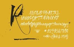 Manuscrit calligraphique expressif Les taches et ?clabousse illustration stock