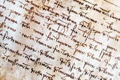 Manuscrit de Leonardo Da Vinci Photo stock