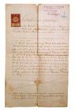 Manuscrit de vieillissement Images libres de droits