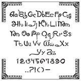 Manuscrit latin dans le style indien illustration libre de droits